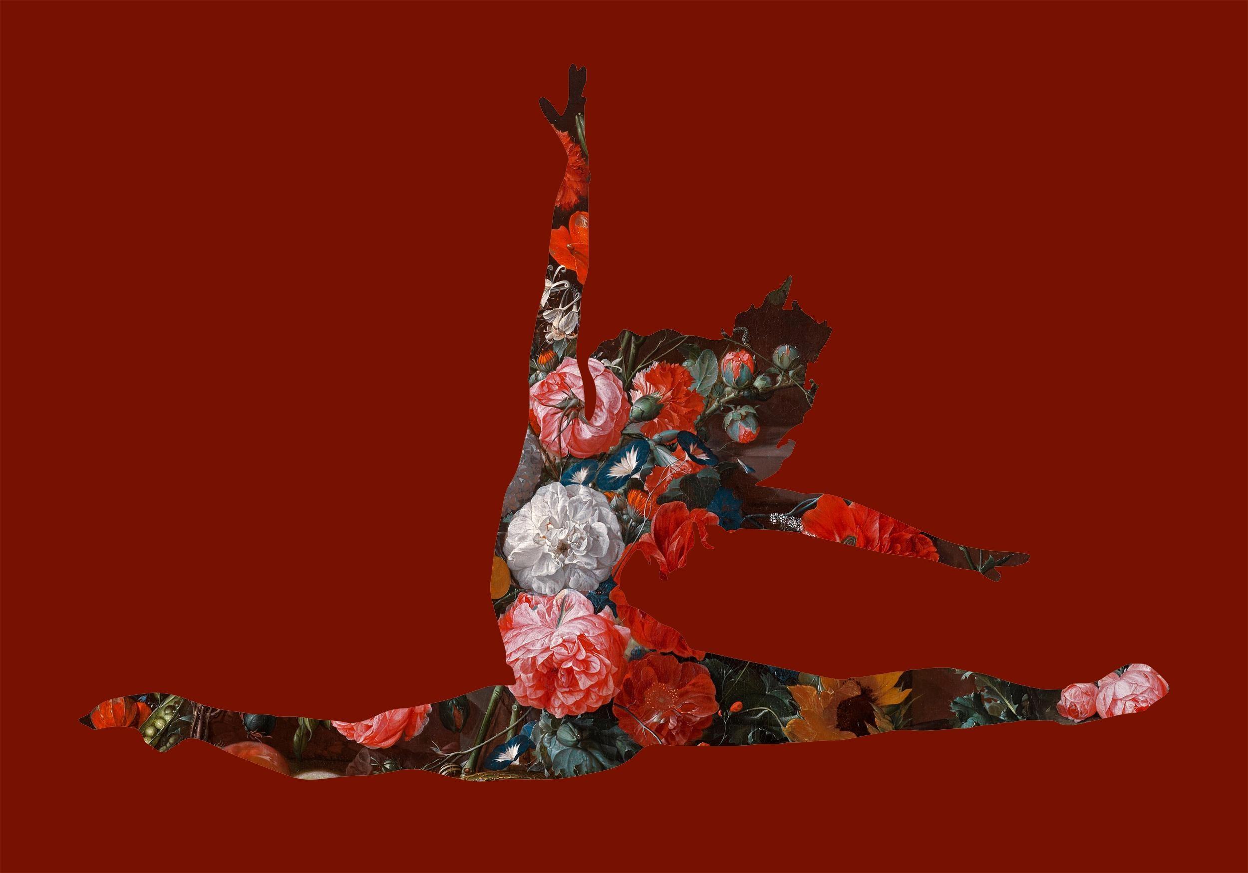 Grand Jetes avec des fleurs (Red) - Ballerina by Agent X
