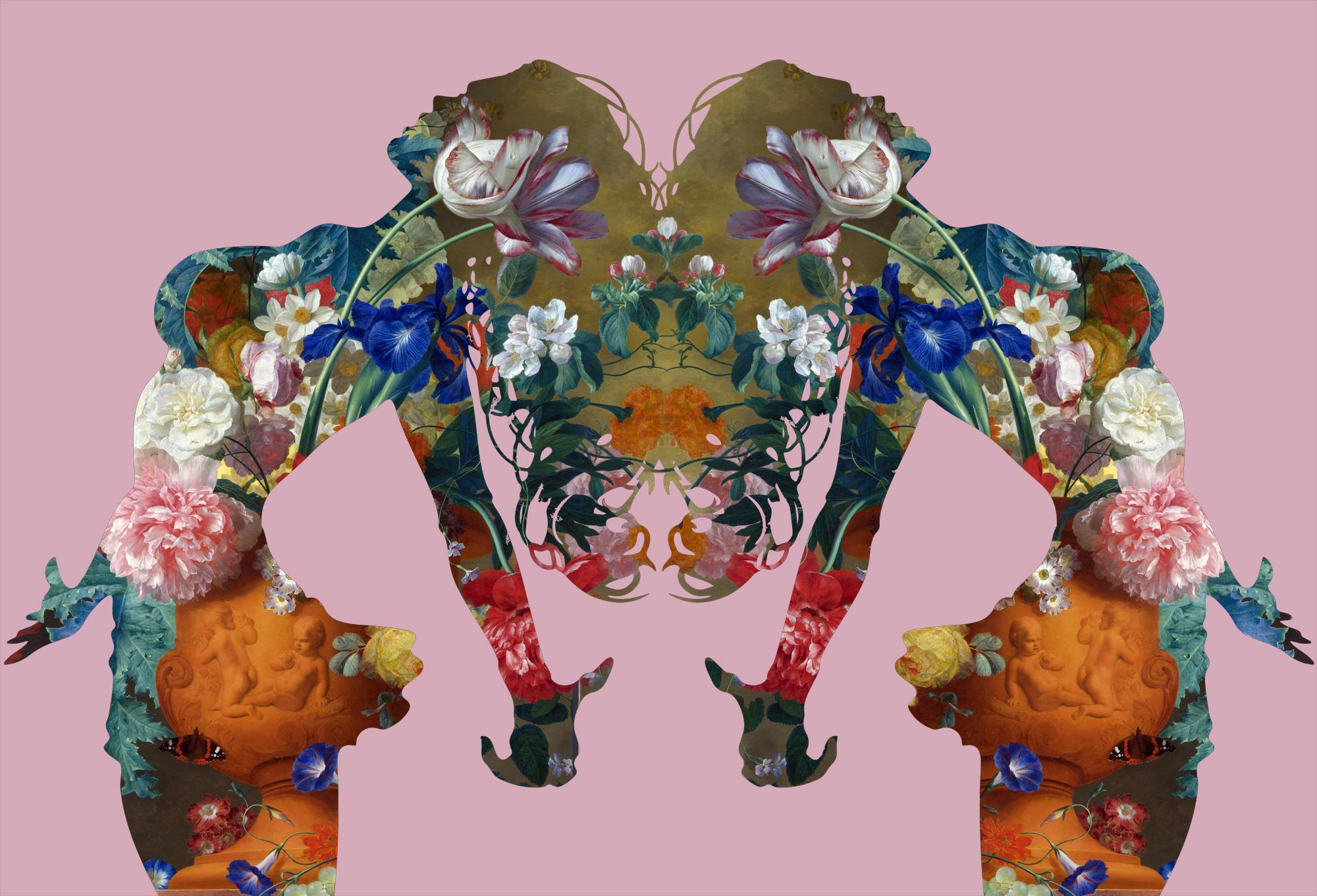Mater Natura (Pink) - Feminine Mother Nature Archetype with Florals by Agent X