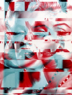 Moods of Marilyn - Marilyn Monroe Abstract Collage Painting by Agent X
