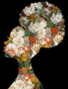 Nkosazana, Black - Botanical African Royalty / Queen of Flowers: Digital Print