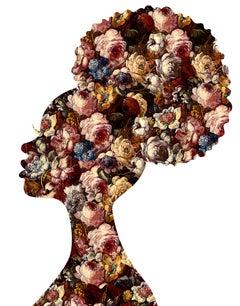 Nkosazana, White - Botanical African Royalty / Queen of Flowers: Digital Print