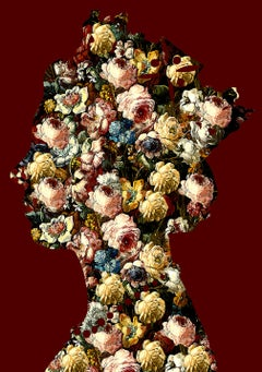 One Queen, Red - Botanical Royalty / Queen of Flowers: Digital Print