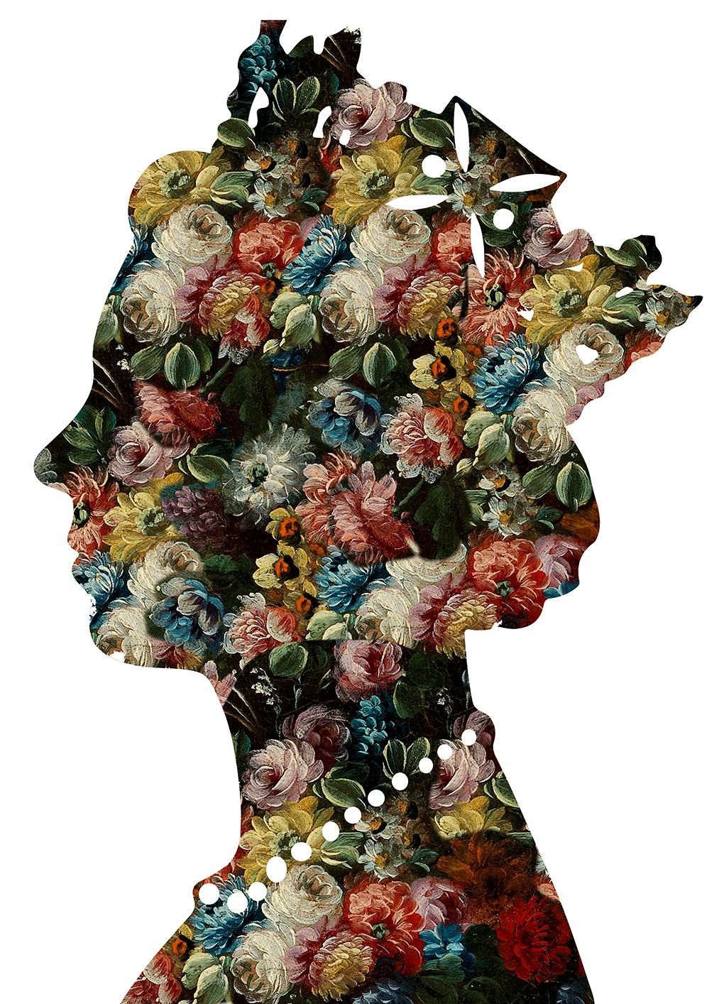 One Queen White - Botanical Royalty / Queen of Flowers: Digital Print