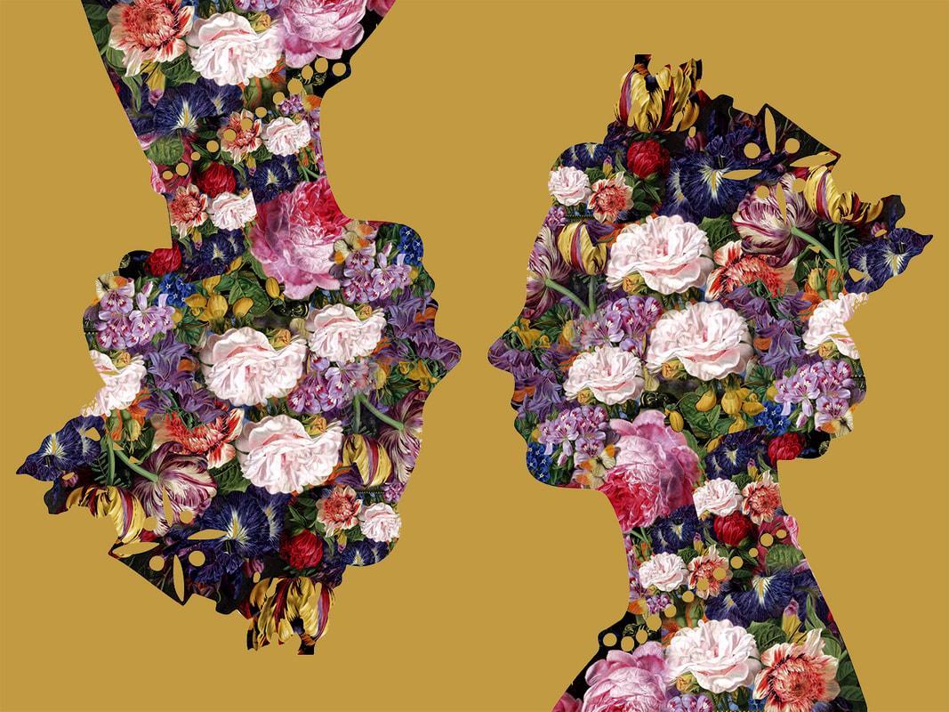 Queen, Gold - Botanical Royalty / Queen of Flowers: Digital Print