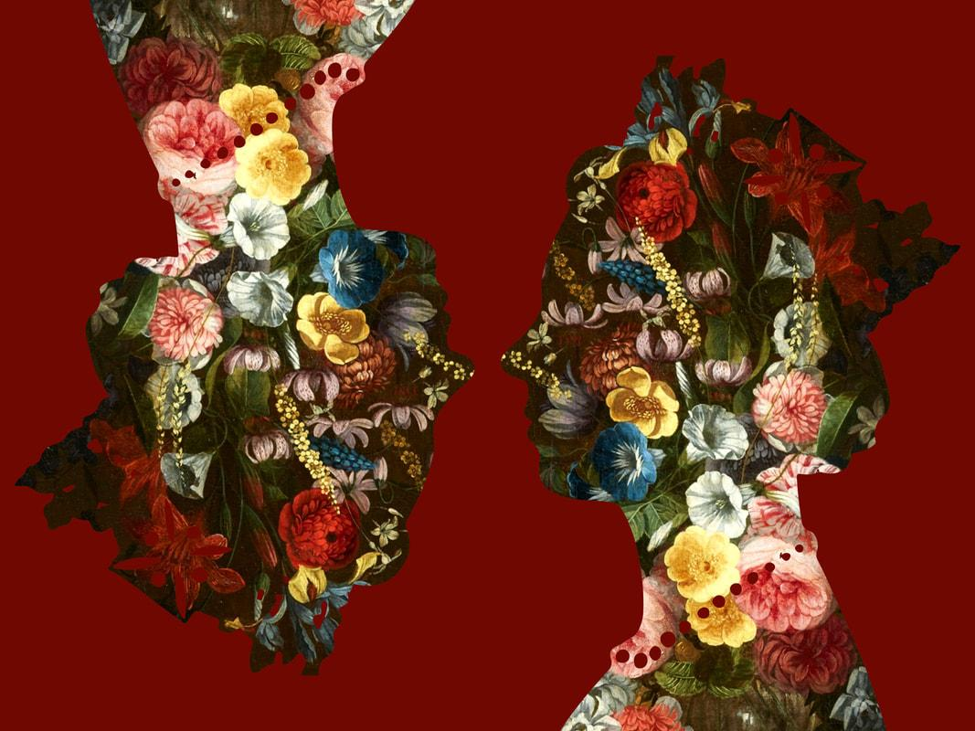 Queen, Red - Botanical Royalty / Queen of Flowers: Digital Print