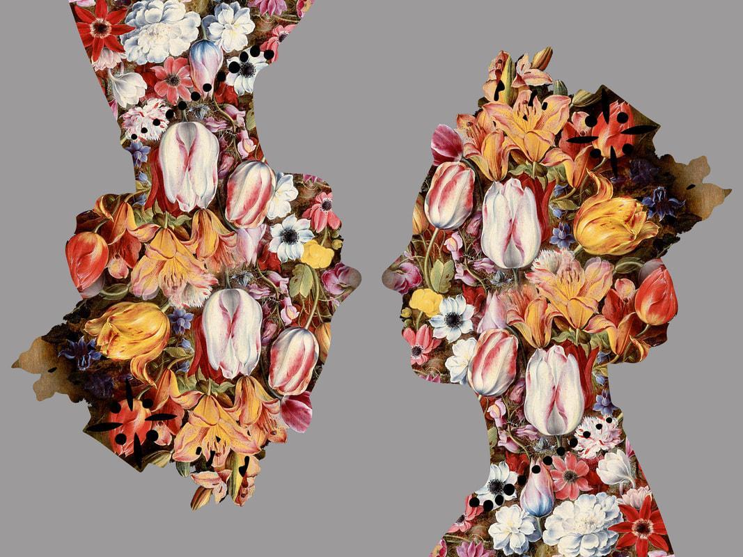 Queen, Silver - Queen of Flowers / Botanical Royalty: Digital Print
