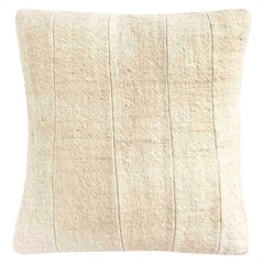Agharass White Cushion Cover, Handspun and Handwoven