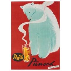 AGIS Polar Bear Original Vintage Poster