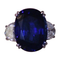 AGL Certified 16.99 Carat Blue Sapphire Ring