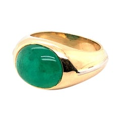 AGL Certified 5.11 Carat Columbian Emerald Ring in 18 Karat Gold and Platinum