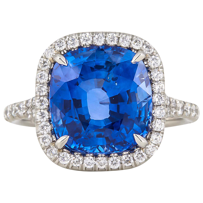 AGL Certified 6.50 Carat Ceylon Sapphire Ring