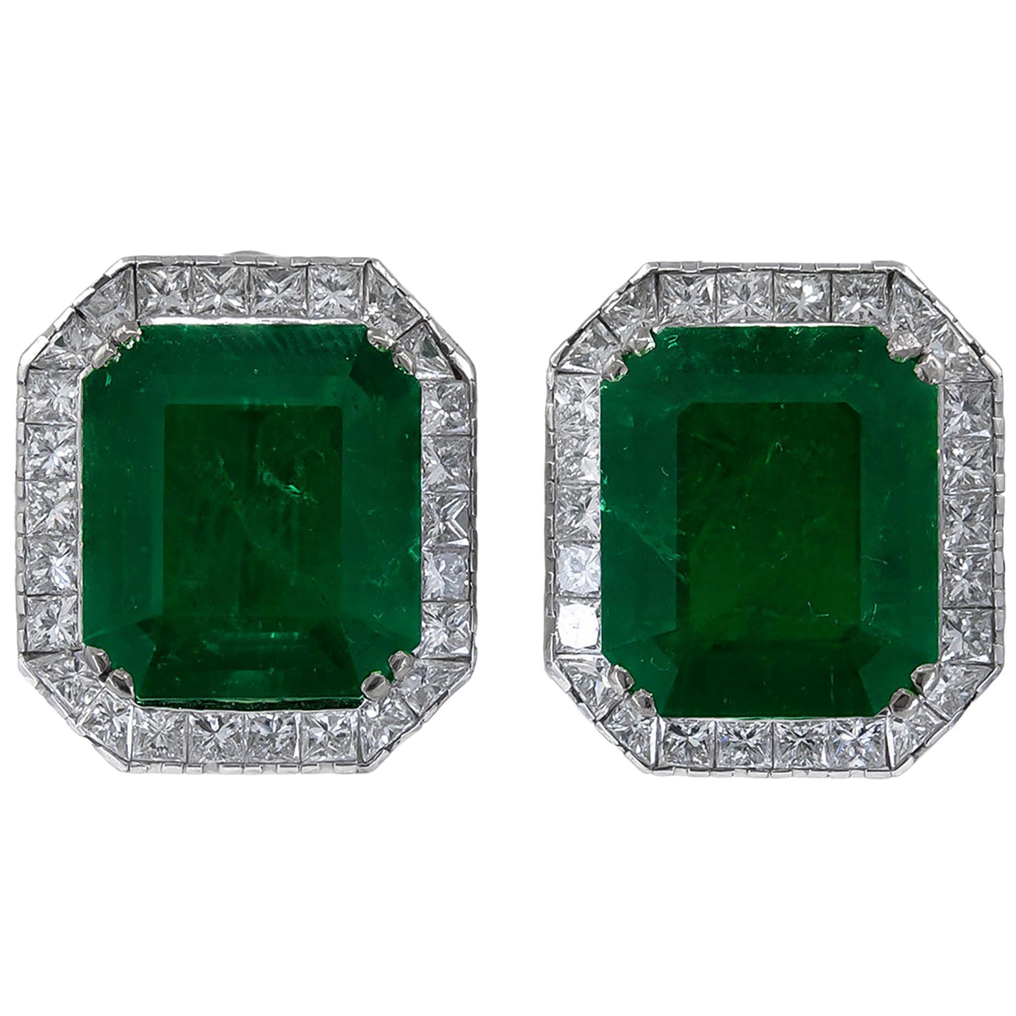 AGL Certified Colombian Emerald Earrings