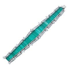 AGL Certified Colombian Emerald Bracelet