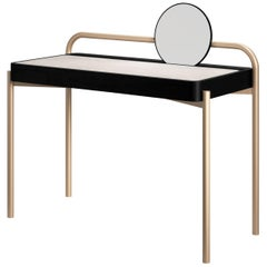 Roll Contemporary Desk in Metal and Wood by Artefatto Design Studio