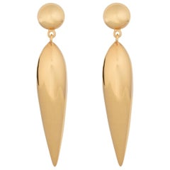 AGMES Gold Vermeil Drop Lightweight Dangle Tear Earrings