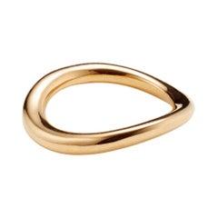 AGMES Medium 14k Solid Gold Astrid Sculptural Ring