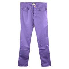AGNES B. Size 30 Purple Cotton Blend Casual Pants