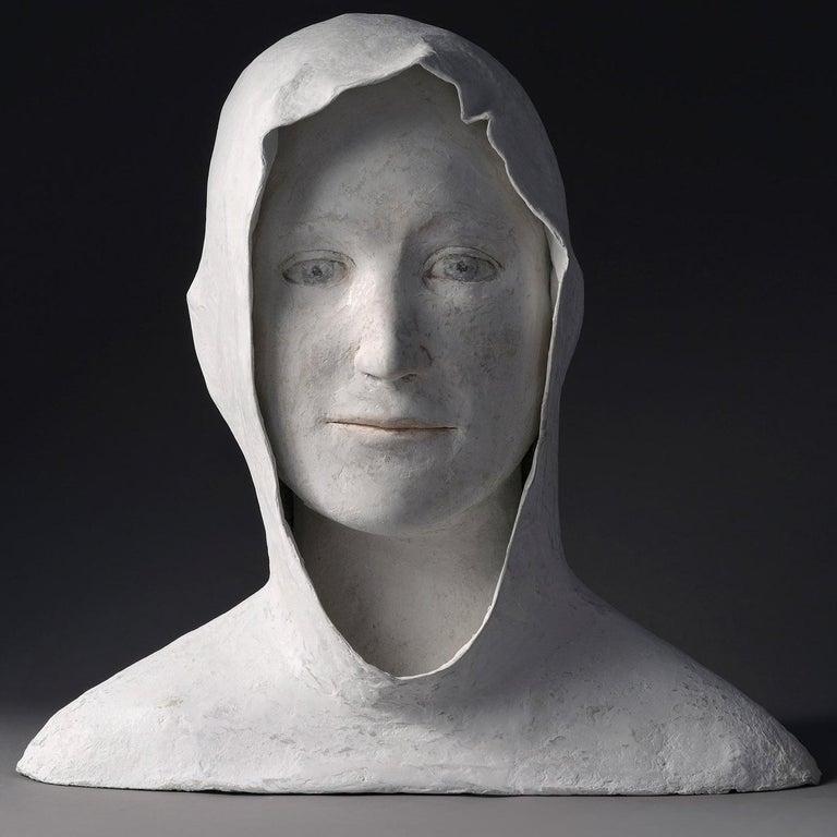 Grand Buste de Jeune - Sculpture by Agnes Baillon