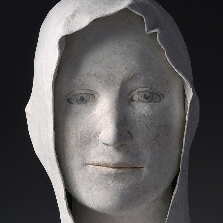 Grand Buste de Jeune - Black Figurative Sculpture by Agnes Baillon
