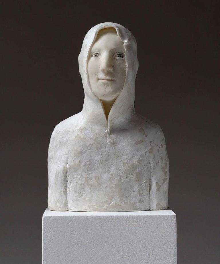 Portrait de Jeune - Black Figurative Sculpture by Agnes Baillon