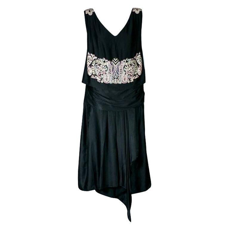 Agnes Haute Couture Beaded and Diamante 1920s Dress For Sale