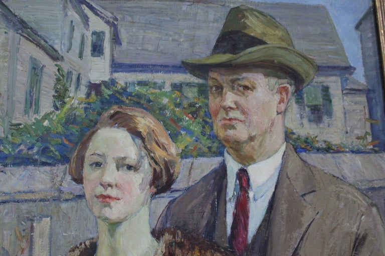 Born in Alton, Illinois, Agnes Richmond was a specialist in portraits of women in a variety of social strata. Her landscape backgrounds, both urban and rural, reflected their circumstances. Her portraits often had bright colors and showcased the