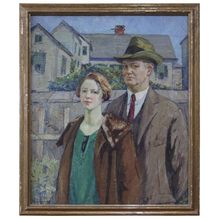 Agnes M. Richmond, 1923 Oil on Canvas For Sale