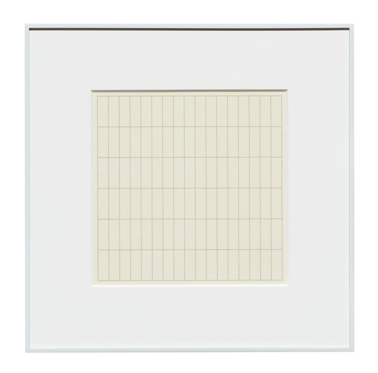 On A Clear Day - Print by Agnes Martin