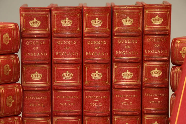 Leatherbound. 16 volumes. Exquisitely bound in full pink Morocco with green & pink doublers. Printed on Japanese vellum paper. Profusely illustrated, with plates in 2 states. Very good. Published in Philadelphia by George Barries & Sons in