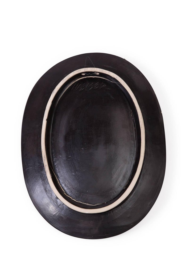 American Agnese Udinotti Ceramic Charger or Wall Sculpture For Sale