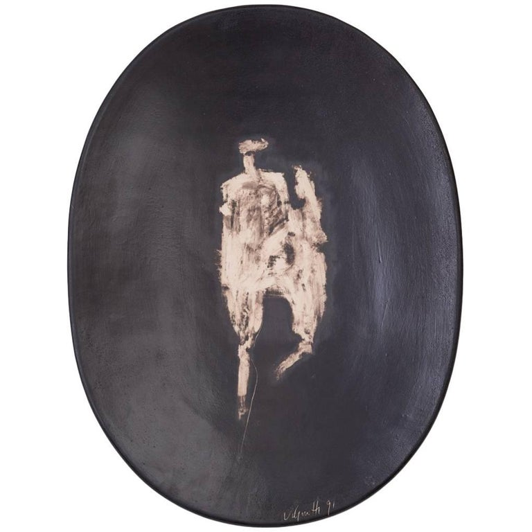 Agnese Udinotti Ceramic Charger or Wall Sculpture For Sale