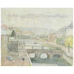 Agnete Varming Painting, The Marble Bridge, Copenhagen