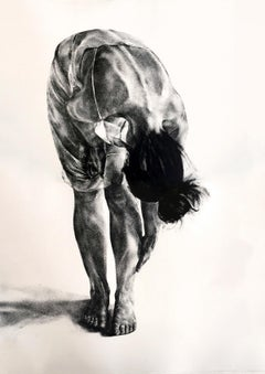 In bath - Contemporary Figurative Print, Black & white, Female