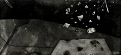 12th September - XXI century, Print, Etching, Abstract, Black & white