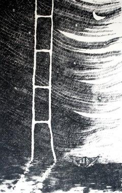 Paper world - XX century, Print, Etching, Figurative, black & white