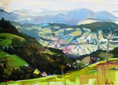 Galicija - abstract oil painting modern contemporary art 21st century