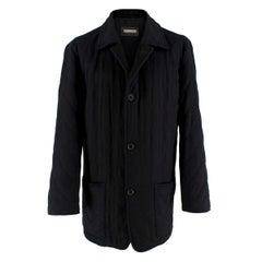 Agnona Black Cashmere Blend Coat - Size L