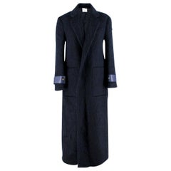 Agnona Navy Mohair Blend Coat - US 4