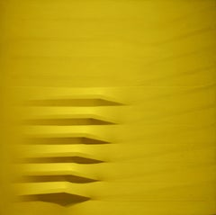 Giallo, 1979, acrylic on shaped canvas