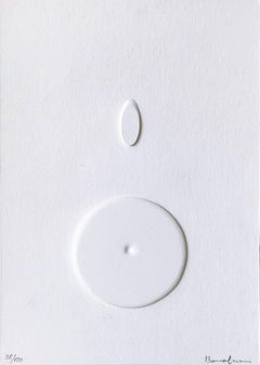 Difficile Cogliersi (Bianco), Italian Avant-Garde Art, Abstract Art, Spatialism