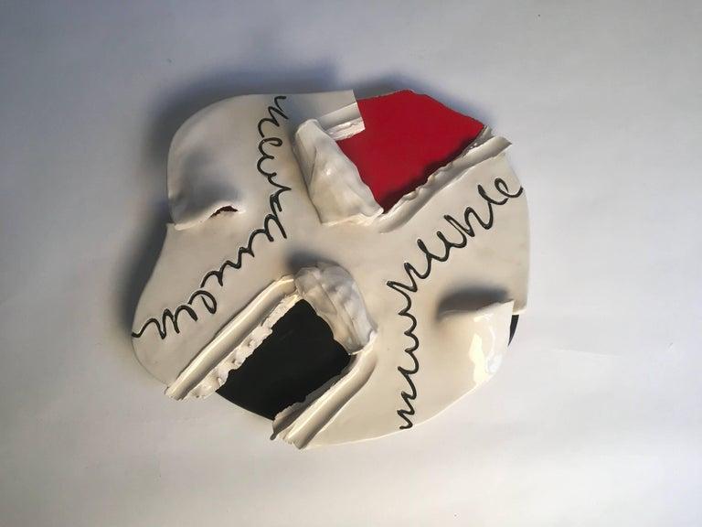 Modern Agostino Ferrari, Ceramic Sculpture, Unique Piece, Italy For Sale