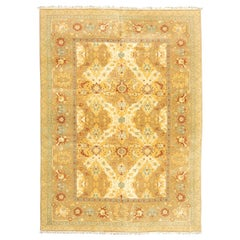 Agra Rug, Classic Design of Palmettes and Interwoven Flowers