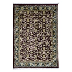 Agra Thick and Plush Pure Wool Hand Knotted Oriental Rug