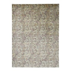 Agra with Paisley Design 100 Percent Wool Hand Knotted Oriental Rug