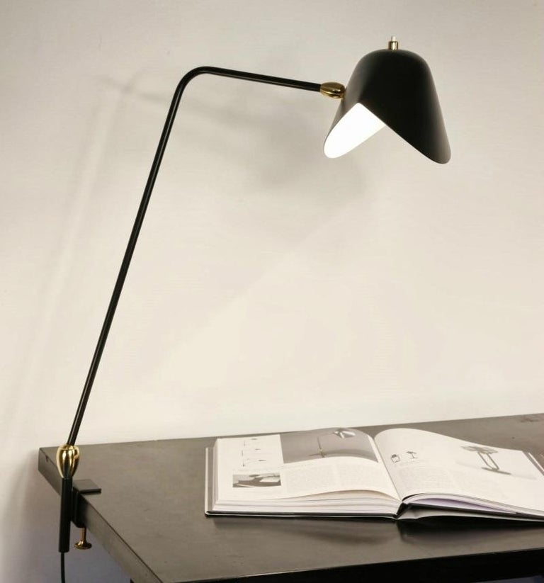 Mid-Century Modern Agrafee Desk Lamp, Double Swivel, by Serge Mouille  For Sale