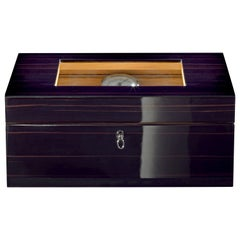 Agresti Avana Nera  Black Humidor in Polished Ebony