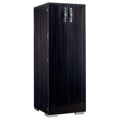 Agresti Bella Vita Humidor Armoire in Polished Ebony