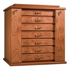 Agresti Bijoux Jewelry Chest in Briar and Mahogany