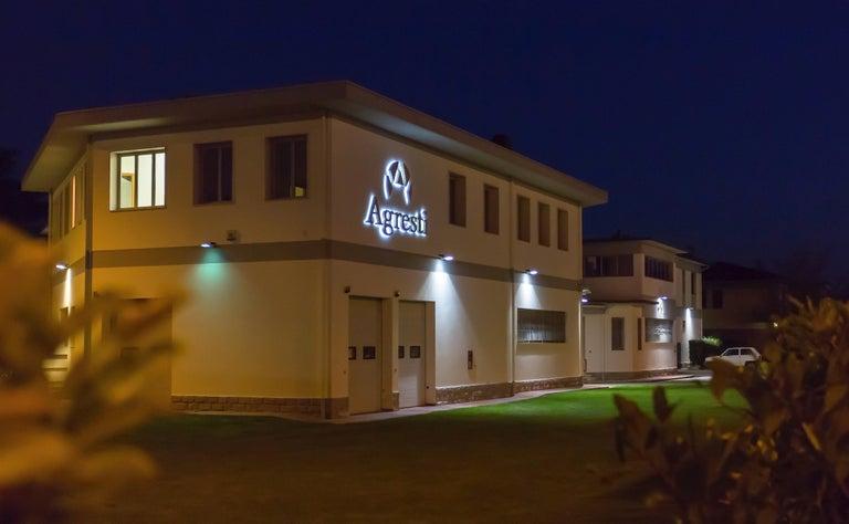 Agresti Contemporary Fiocco Armoire Safe in Shiny White Maple For Sale 3