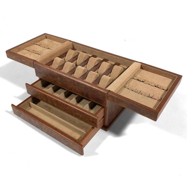 Agresti Gentleman's Watch/ Jewlery Cabinet in Elm Briar For Sale 1